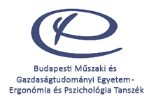 Budapesti Műszaki és Gazdaságtudományi Egyetem - Ergonómia és Pszichológia Tanszék